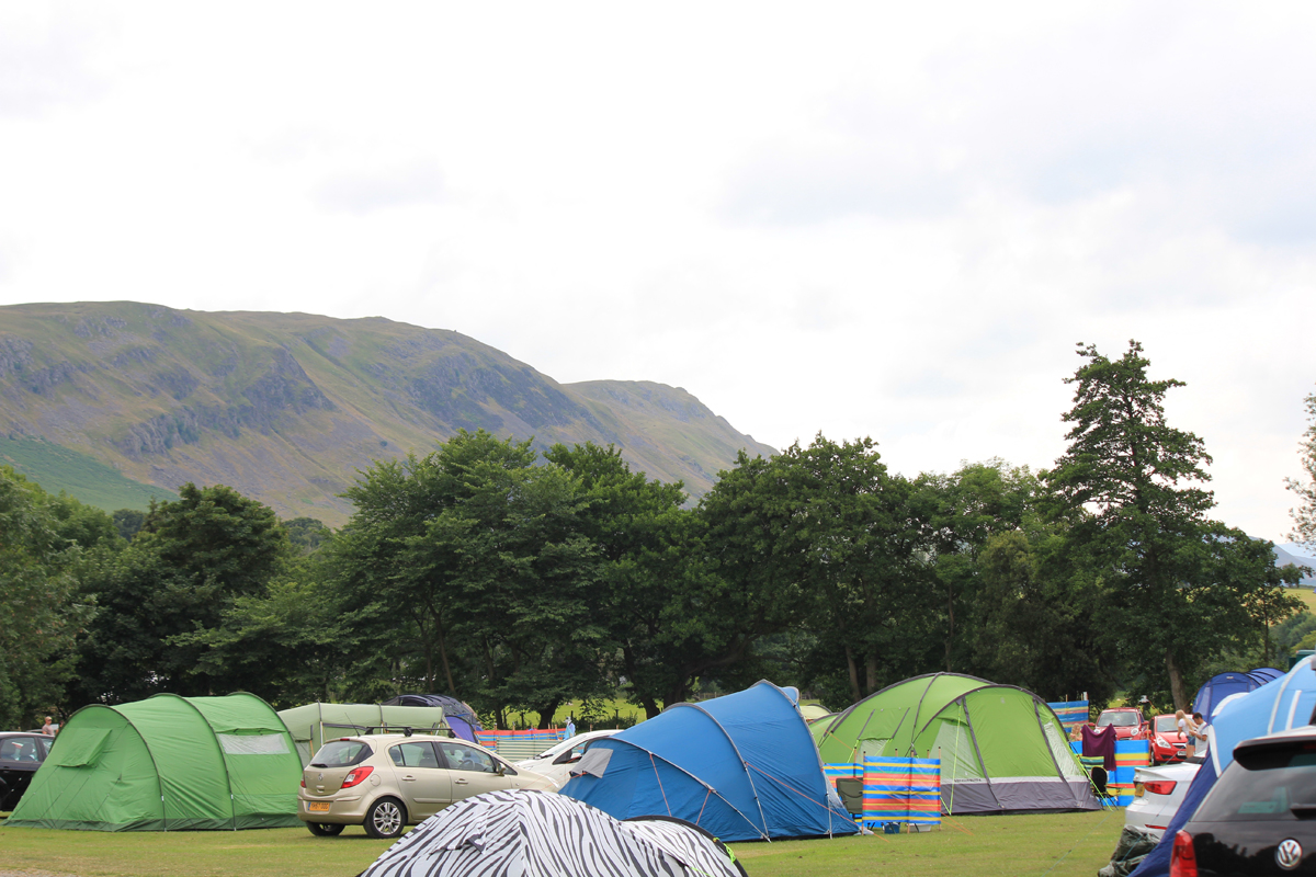 Lake district camp site