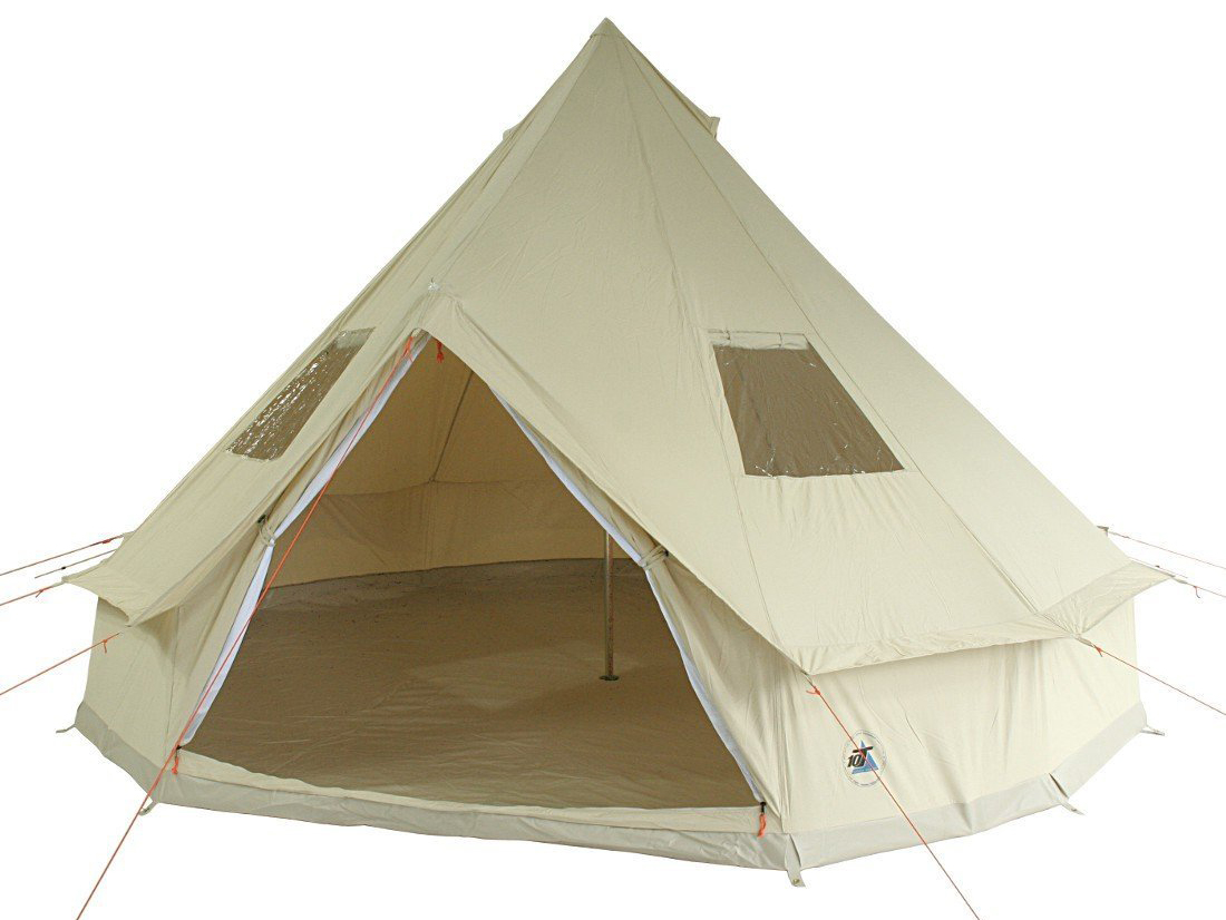 10T Desert 8 - 8 person cotton pyramid tent sewn in ground sheet ?  sc 1 st  C&ing with Style : used bell tent - memphite.com