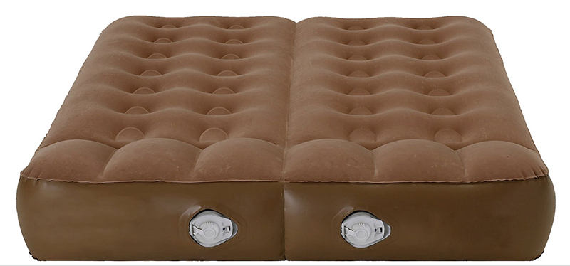 Aerobed active dual chambered bed