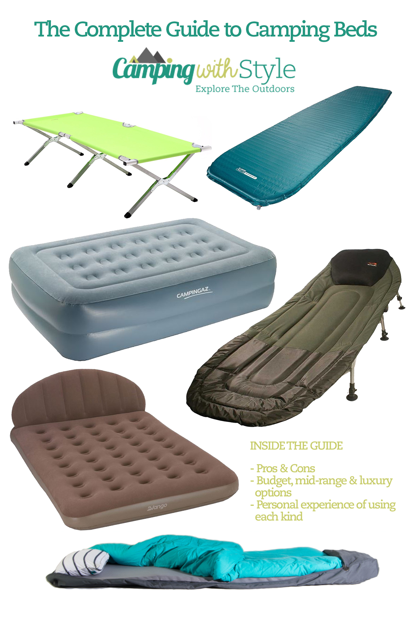 beds camping bags product com cot airbed queen coleman sleep bed