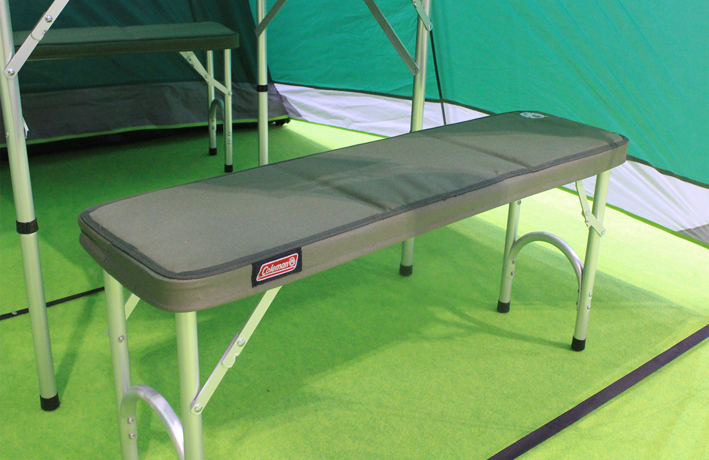Coleman folding camp benches