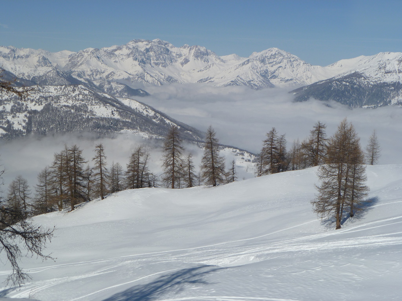 High above the clouds in Sestriere, Italy