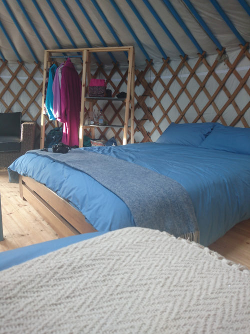 Inside Fir Hill Yurts Cornwall