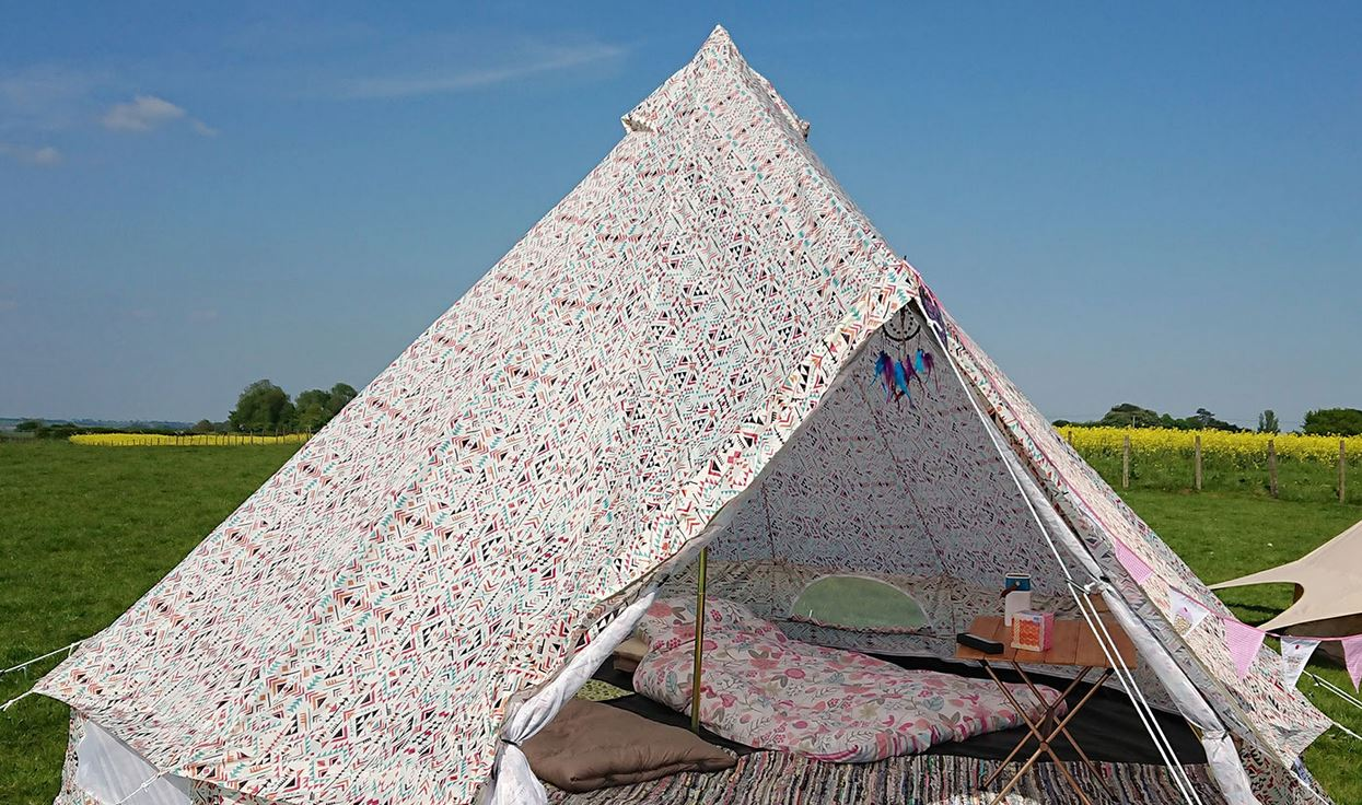 Boutique Camping Weekender Aztec Print Bell Tent