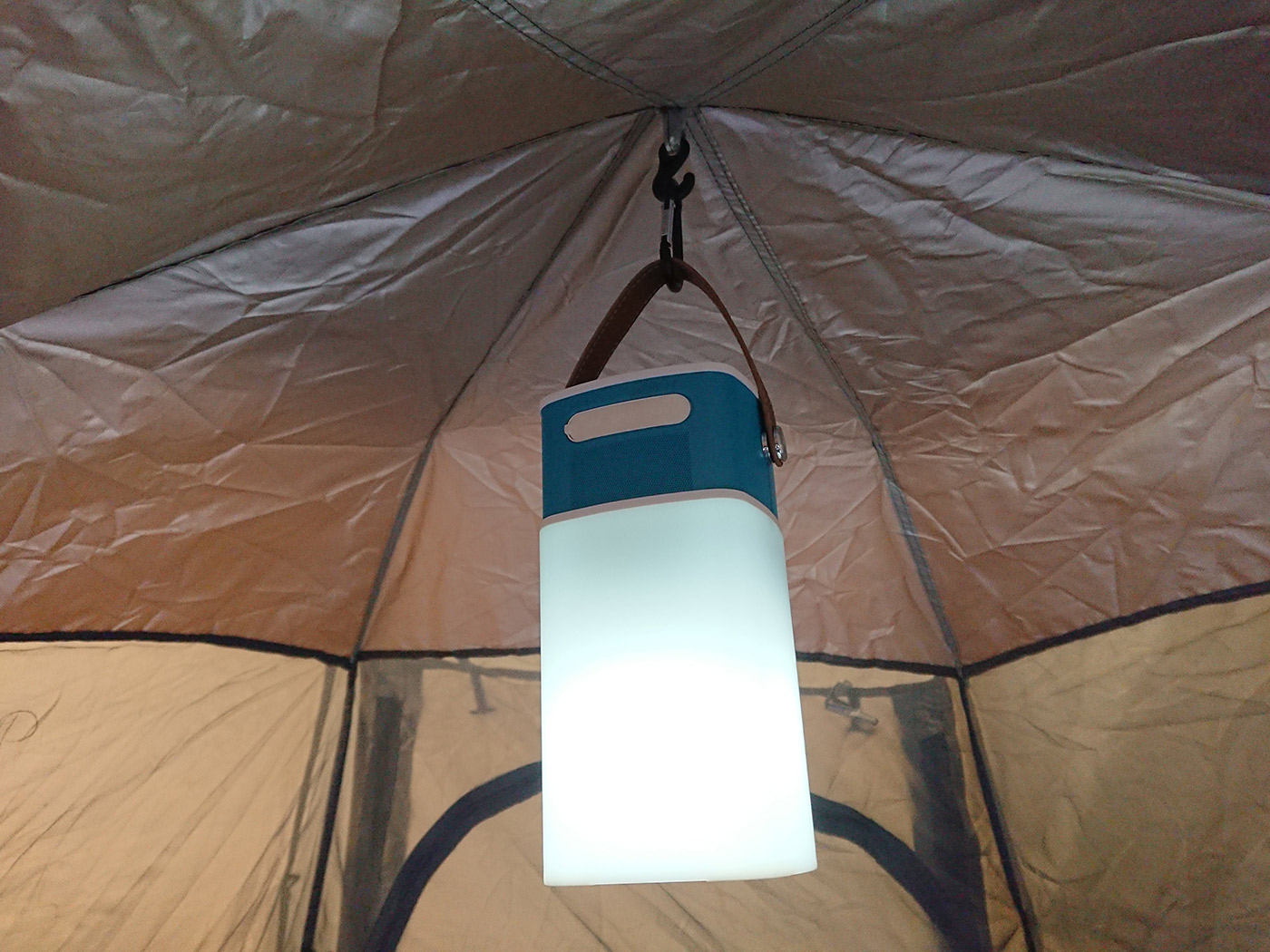 CAMPING | Hewolf Automatic Hexagonal Tent In Camel Brown