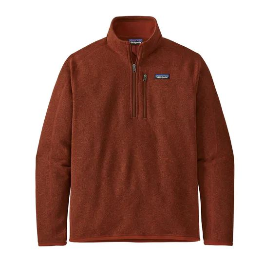 Patagonia Better Sweater Quarter Zip Fleece Barn Red £100.00